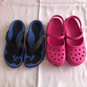 Women's Crocs 2 flip flops & Maryjanes shoes
